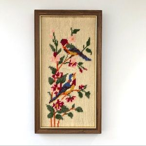 Other - Adorable needlepoint birds canvas
